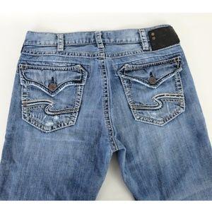 Silver Jeans CRAIG 33x30 Boot Cut Jeans Distress